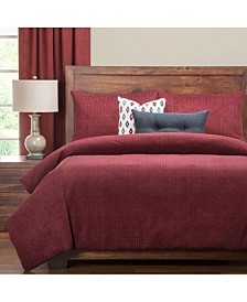 Pologear Tumbleweed Crimson 6 Piece Cal King High End Duvet Set