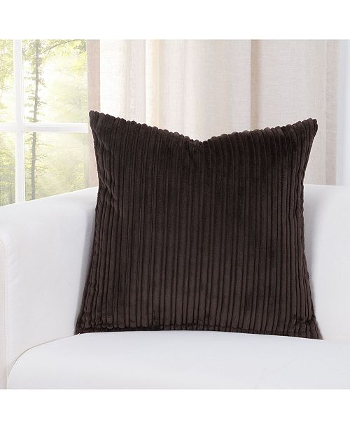 "Siscovers Downy Mocha 20"" Designer Throw Pillow"
