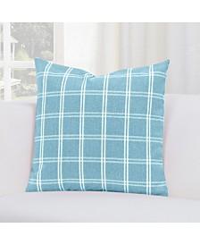 "Siscovers Tartan Turqouise 20"" Designer Throw Pillow"