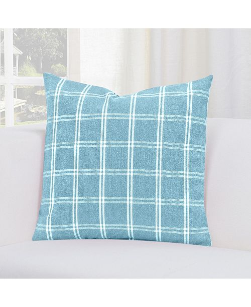 "Siscovers Tartan Turqouise 20"" Designer Throw Pillow"