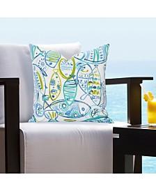 """Siscovers Indoor-Outdoor Guppy 16"""" Designer Throw Pillow"""