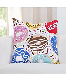 Sweet Dreams Donut Print Throw Pillow