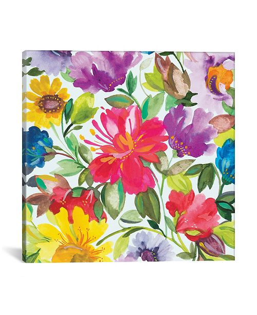 "iCanvas ""Hibiscus"" By Kim Parker Gallery-Wrapped Canvas Print - 12"" x 12"" x 0.75"""