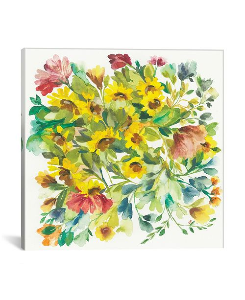 """iCanvas """"Winter Bouquet"""" By Kim Parker Gallery-Wrapped Canvas Print - 37"""" x 37"""" x 0.75"""""""