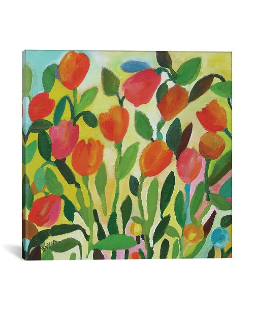 """iCanvas """"Tulip Garden"""" By Kim Parker Gallery-Wrapped Canvas Print - 26"""" x 26"""" x 0.75"""""""