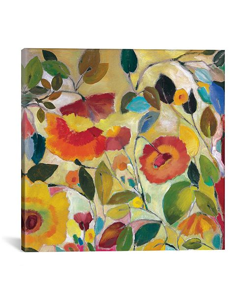 "iCanvas ""Garden Fantasie"" By Kim Parker Gallery-Wrapped Canvas Print - 37"" x 37"" x 0.75"""