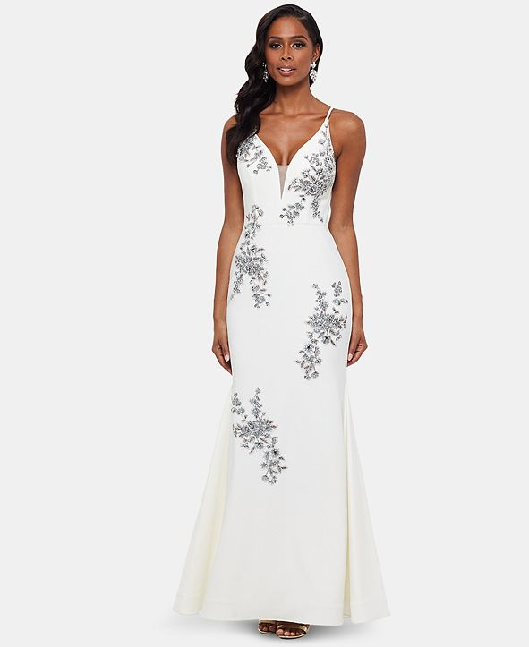 XSCAPE Embroidered Gown