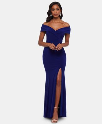 Xscape One Shoulder Prom Dress
