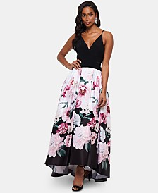 XSCAPE Floral Skirt Gown