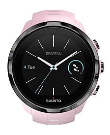 Spartan Sport Dark Pink Wrist HR, Pink Silicone Band with a Digital Dial
