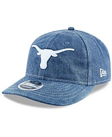 New Era Texas Longhorns Denim Drift 9FIFTY Snapback Cap