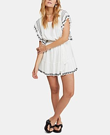 Weekend Brunch Embroidered Mini Dress