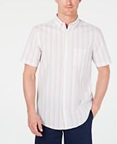 cef25a44bbda Club Room Men's Seersucker Striped Shirt, Created for Macy's