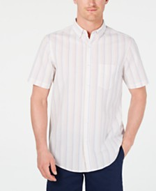 Club Room Men's Seersucker Striped Shirt, Created for Macy's