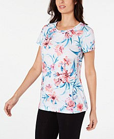 Printed Keyhole-Back T-Shirt, Created for Macy's