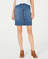3dea7338205 Style   Co Petite Button-Down Denim Skirt