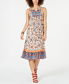 Paisley Flower Midi Dress, Created for Macy's