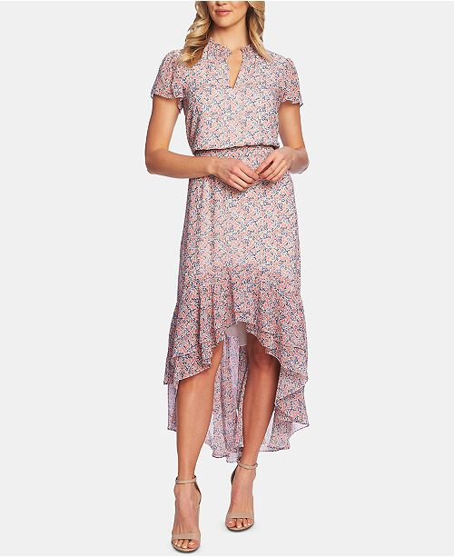 1.STATE Flutter-Sleeve High-Low Dress