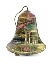 NeQwa Art The Garden Of Prayer Artist Thomas Kinkade Bell-Shaped Glass Ornament