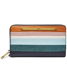 Fossil Liza Striped Clutch Wallet