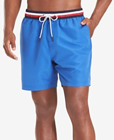 "Tommy Hilfiger Men's Striped Band 6.5"" Swim Trunks"