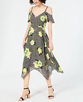 09db7e099d20 I.N.C. Mixed-Print Cold-Shoulder Dress, Created for Macy's