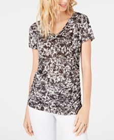 I.N.C. Double-Layer V-Neck Top, Created for Macy's