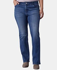 Plus Size Bootcut-Leg Jeans