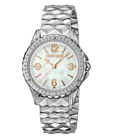 By Franck Muller Women's Swiss Quartz Silver Stainless Steel Bracelet Mother Of Pearl Dial Watch, 34mm