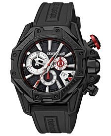 By Franck Muller Men's Swiss Chronograph Black Rubber Strap Watch, 44mm