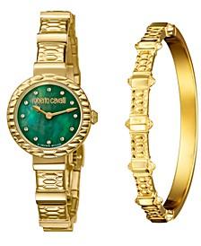 By Franck Muller Women's Diamond Swiss Quartz Gold Stainless Steel Watch & Bracelet Gift Set, 26mm