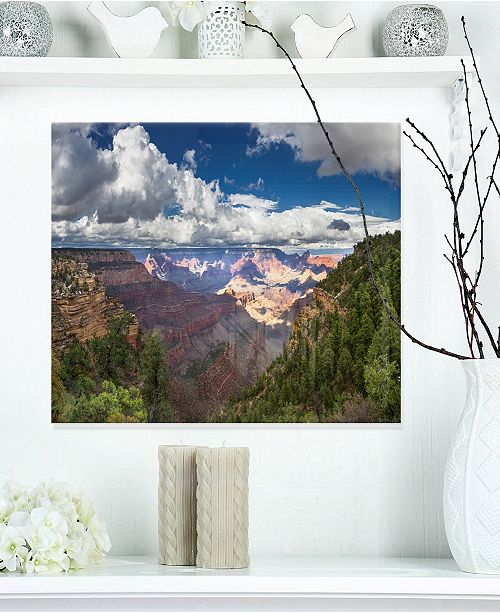 "Design Art Designart 'Us Grand Canyon In Colorado River' Landscape Metal Wall Art - 20"" X 12"""