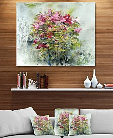 "Designart 'Bouquets Of Roses Painting Art' Floral Metal Wall Art - 40"" X 30"""