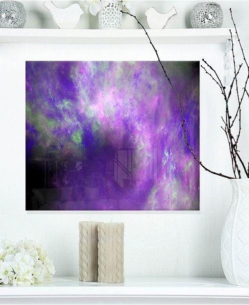 Designart Perfect Light Purple Starry Sky Abstract Metal Wall Decor 20 X 12