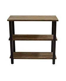 "Alaterre Pomona 31"" H 2-Shelf Metal and Solid Wood Under-Window Bookcase"