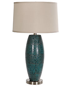 Crestview Melrose Blue Table Lamp