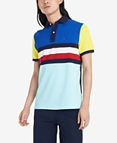 6fcf7248 Tommy Hilfiger Men's Archie Custom-Fit Colorblocked Stripe Polo