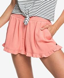 Roxy Juniors' Ruffled Pull-On Shorts