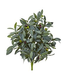 "Nearly Natural 21"" Olive Bush with Berries Artificial Plant (Set of 3)"