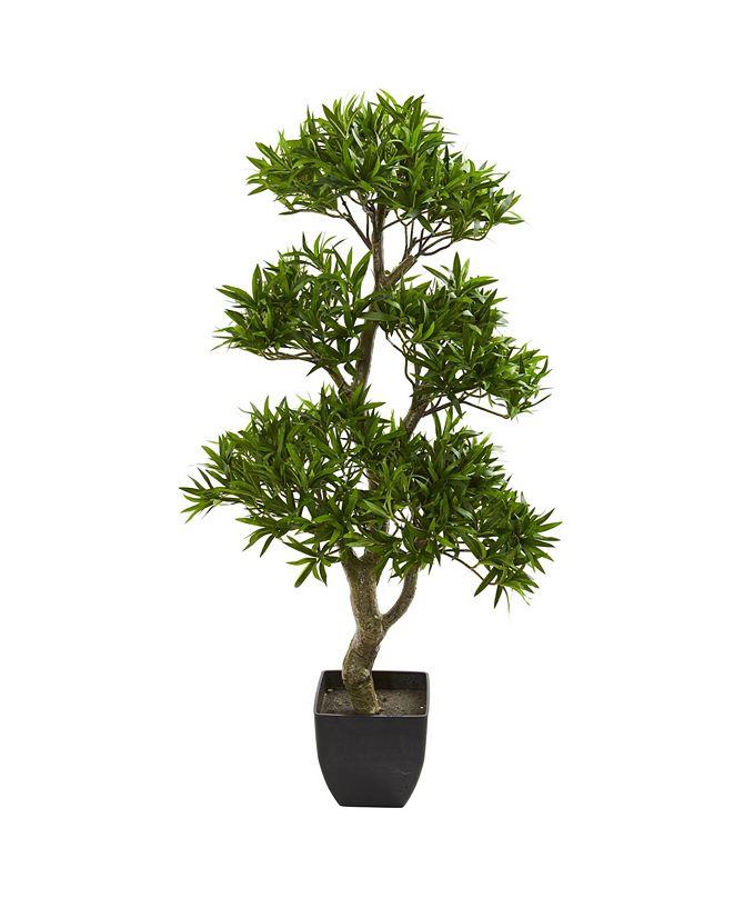 "Nearly Natural 37"" Bonsai Styled Podocarpus Artificial Tree"