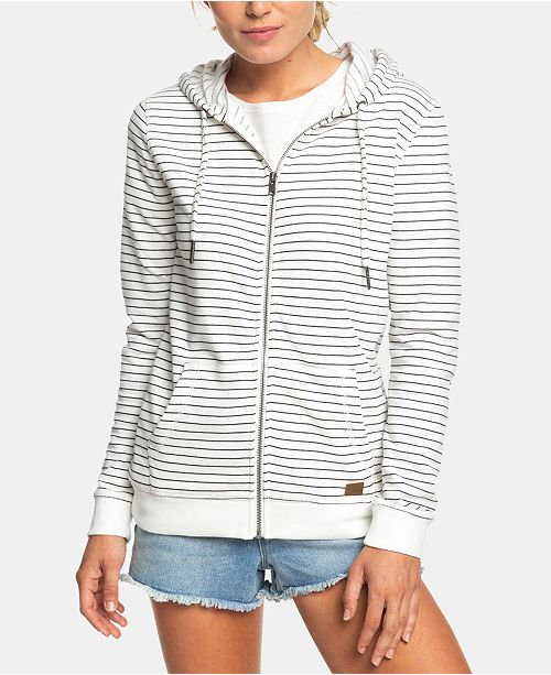 Roxy Juniors' Trippin Stripes Zip-Up Hoodie