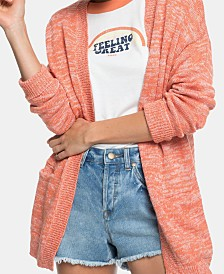 Roxy Juniors' Valley Shades Open-Front Cardigan