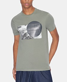 A|X Armani Exchange Men's Waves Graphic T-Shirt