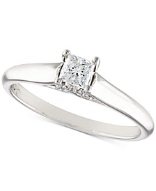 Certified Diamond Engagement Ring (1/3 ct. t.w.) in 18k White Gold
