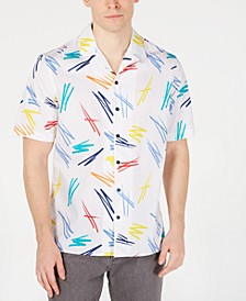 Men's Patterned Camp Collar Shirt, Created for Macy's