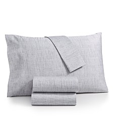 Sunham Printed Rest 4-Pc California King Sheet Set, 450 Thread Count 100% Cotton, Created for Macy's