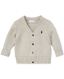 Polo Ralph Lauren Baby Boys Combed Cotton V-Neck Cardigan