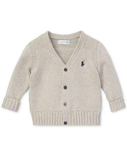 Polo Ralph Lauren Baby Boys Combed Cotton V-Neck Cardigan