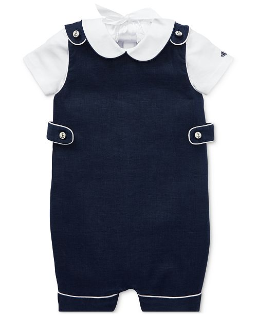 Polo Ralph Lauren Baby Boys Bodysuit & Overalls Set
