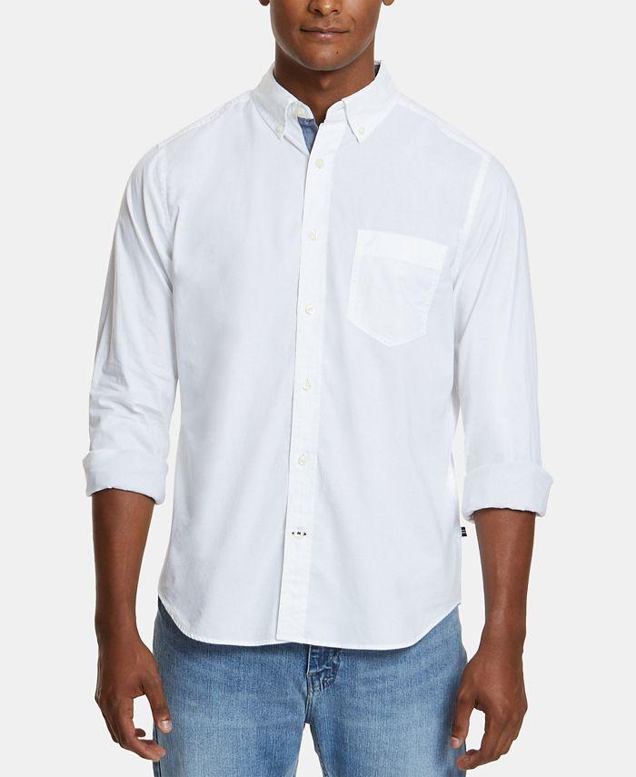 Nautica Men's Classic-Fit Stretch Button-Down Shirt & Reviews - Casual  Button-Down Shirts - Men - Macy's